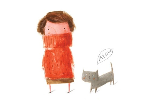 """MEOW"" by Ekaterina Trukhan: Cat Art, Meow, Ekaterina Trukhan, Illustrationsart 10, Children Illustration, Digital Prints, Art Illustration, Children Book, Cat Lady"