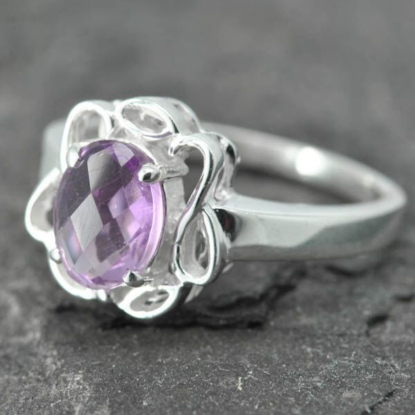 A personal favorite from my Etsy shop https://www.etsy.com/listing/152267033/amethyst-ring-birthstone-february