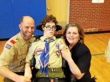 Eagle Scout Christian Matcovich is a shining example of a Scout who tackles challenges head on. He accomplished all of this with spastic quadriplegic cerebral palsy.