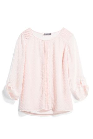 Love this soft pink color and blouse