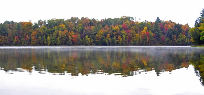 Foliage reflections in Waterbury, Vermont