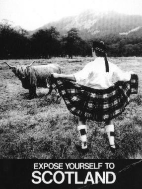 What's under my Scottish Kilt? Expose youse left to Scotland.