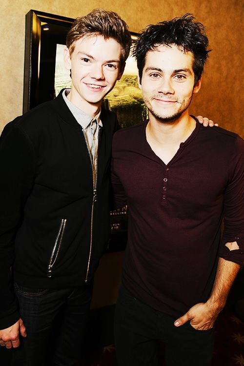 Can any picture be more perfect than this? I don't think so :D Dylan O'Brien and Thomas Brodie Sangster in The Maze Runner