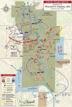 The Battle of Wilson's Creek - August 10, 1861 | Missouri Genealogy on