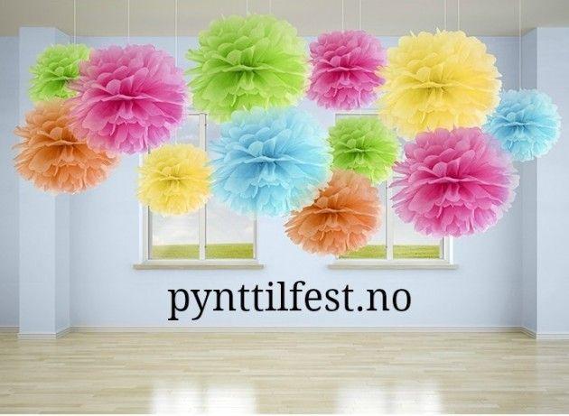 Pom-Poms 1 stk 25 cm | Pynt Til Fest. Tips, inspirasjon og gode ideer til din…
