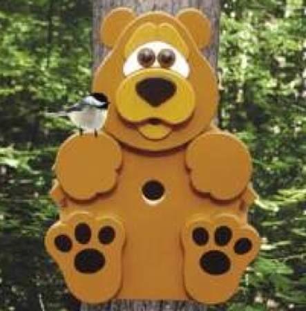 19-W3367 - Bear Cub Birdhouse Woodworking Plan idea