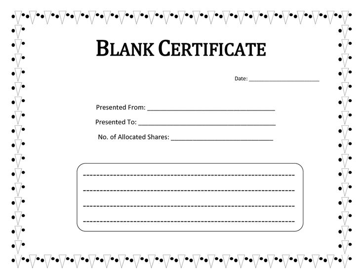 44 best blank certificate templates images on pinterest award blank certificate templates to print activity shelter yelopaper Gallery