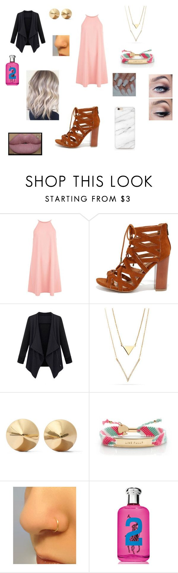 Untitled #229 by katrine-frid on Polyvore featuring New Look, Bamboo, Kate Spade, Eddie Borgo and Ralph Lauren