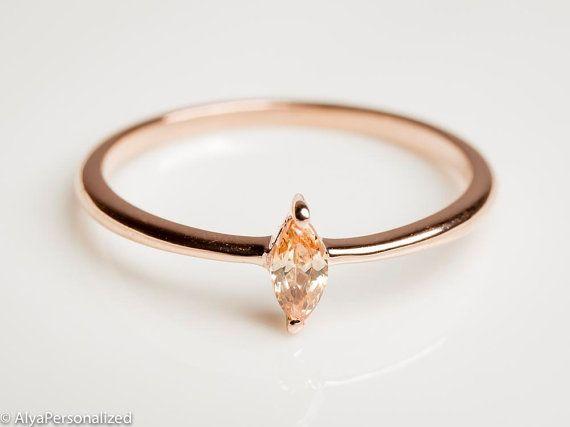 Sencillo+anillo+de+oro++anillo+de+oro+fino++citrino+joyas+
