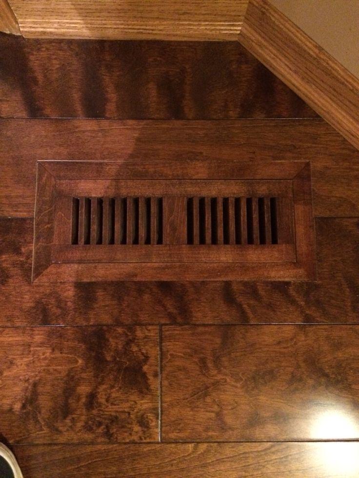 Flush hardwood vents. Lemon Vanilla Birch Flooring