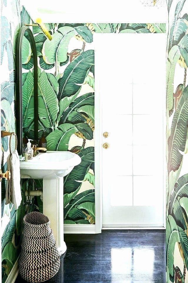 Bathroom Wallpaper Borders Ideas Lovely Cool Bathroom Wallpaper Border Ideas S Banana Leaf Tropical Bathroom Decor Tropical Bathroom Bathroom Wallpaper