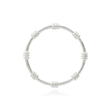 Circle Triple Wire Ring Silver