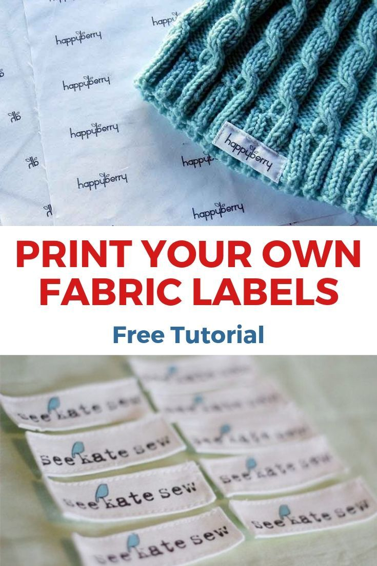 How To Print Your Own Fabric Labels At Home This Is An Updated Version Of A Very Old Video As I Wanted To Re Share A Much Im In 2020 Fabric Labels Fabric