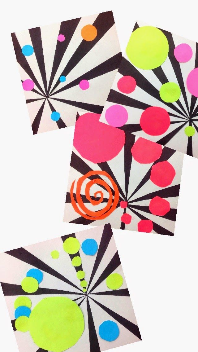 Un effet psychédélique avec des collages de formes
