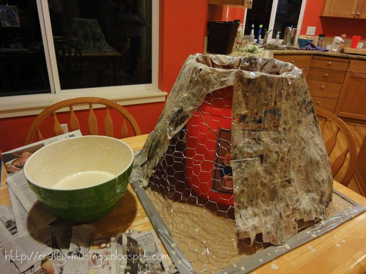 how to make a paper mache volcano project
