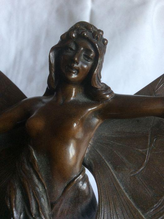 Francis Renaud - art nouveau - sculpture bronze 'Papillon'