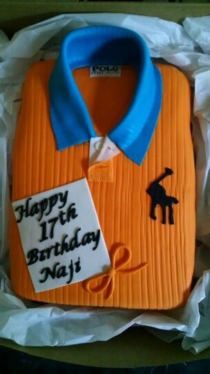 Polo shirt cake made @pSweetSuccess