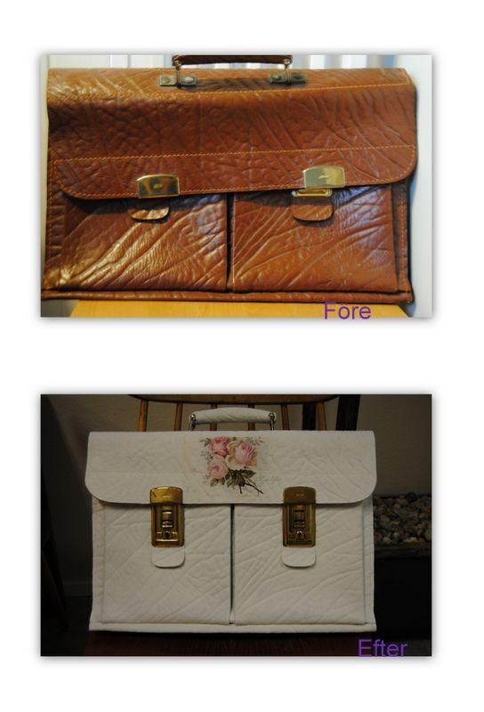 Portfölj före och efter  Made by Paula Laakso
