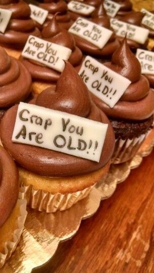 Insult Cupcakes - Fun and Creative 50th Birthday Party Ideas - Photos