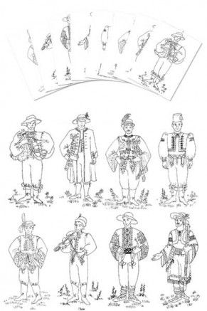 Coloring Pages – Czech & Slovak Boy costumes (gc-106-cp) 1