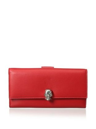 Alexander McQueen Women's Continental Wallet, Red
