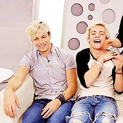 """ROSS STOP BEING ADORABLE!!!! I've actually seen this video... He broke the couch..."" Lol, he actually broke it..."