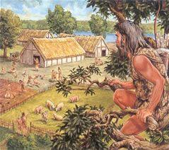 Dit is een vesting van boeren in de prehistorie. De boeren bleven op een plek en   trokken in tegenstelling tegen de jagers niet meer rond.