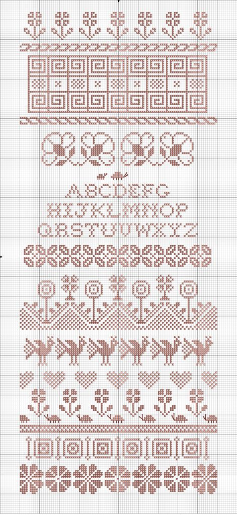 http://embroiderbee.wordpress.com/2013/03/24/freebie-spring-plantings-single-color-sampler/