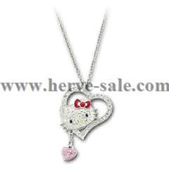 Swarovski Crystal Hello Kitty Iconic Heart Pendant 1106120