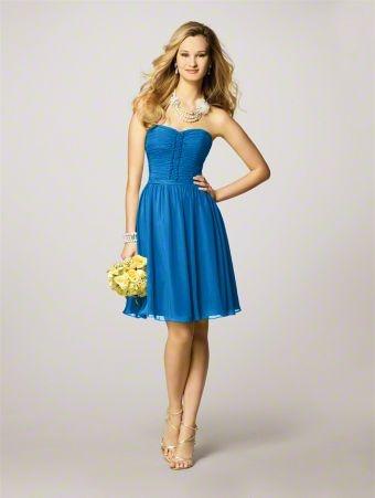Bridesmaids dress- horizon blue- Alfred Angelo - wedding dreams &lt-3 ...