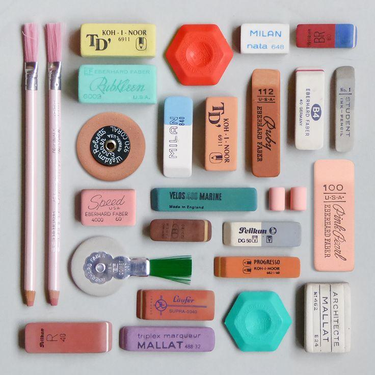 Vintage erasers #erasers #deskaccessories #homeoffice