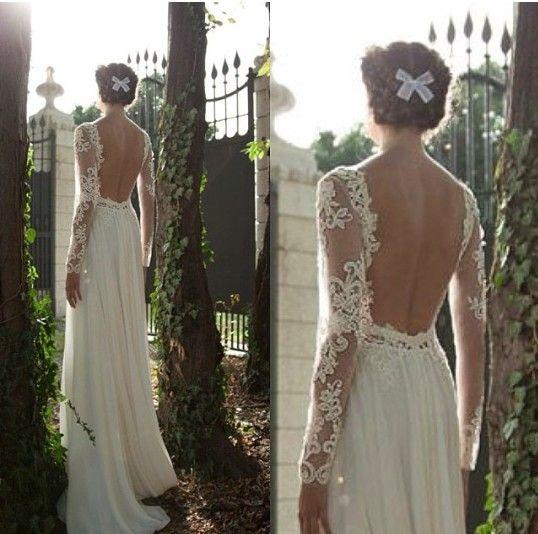 Vestido de novia espalda descubierta