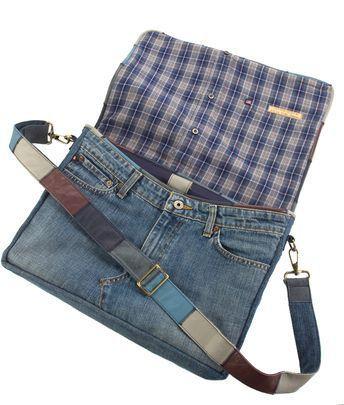Umgewandelte Levis Jeans-Umhängetasche, Jeanstasche
