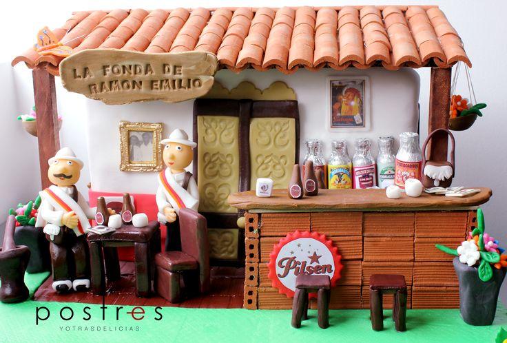 TORTA FONDA ANTIOQUEÑA #fondaantioqueña #antioquia #tortastematicas #postresyotrasdelicias