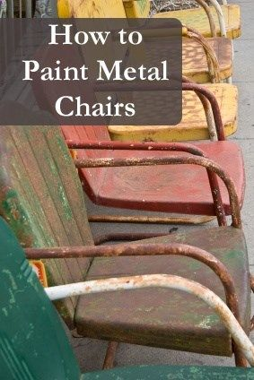 How to Paint Metal (and rusted!) chairs. Products, technique, process, etc... I love this!