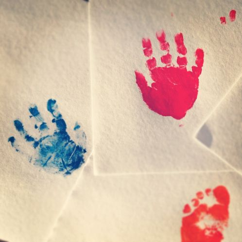 Make hand and foot-prints to frame as a memento of your child's Naming Ceremony.
