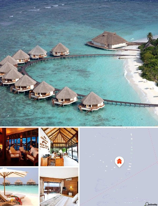 The resort is located in the middle of the warm tropical waters of the Indian Ocean. It is just a short 130-kilometre journey from Male on the pristine white shores of the island of Meedhupparu.