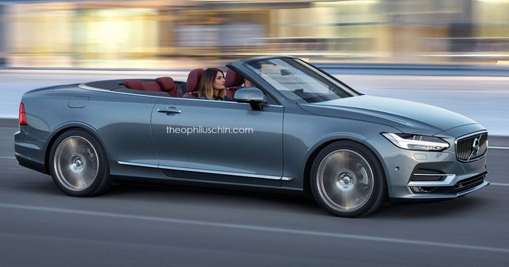 A Volvo C90 Convertible Could Go After Mercedes' E-Class Cabrio #Renderings #Volvo