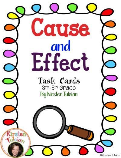 These Cause and Effect Task cards are common core aligned and designed for 3rd to 5th grade. This cause and effect product includes 4 instructional pages, 36 task cards, an answer sheet, and an answer key. These cause and effect task cards can be used in stations, small groups, whole class, centers, or for early finishers.