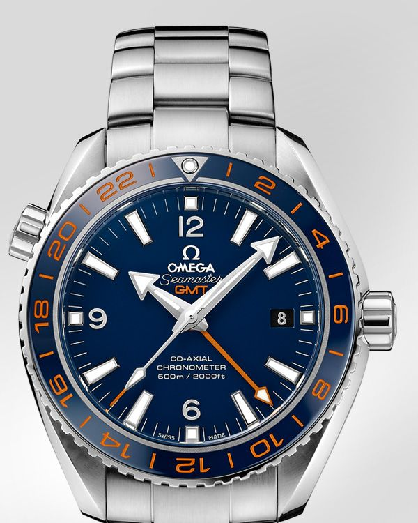 OMEGA Watches: Seamaster Planet Ocean 600 M Omega Co-axial GMT 43.5 mm - Steel on steel - 232.30.44.22.03.001