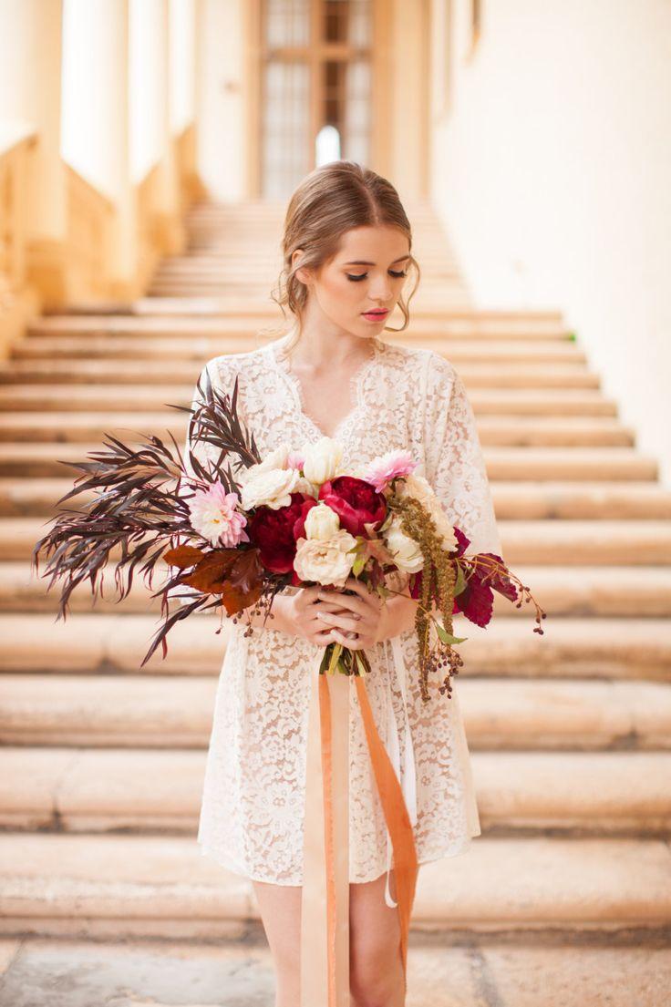 Elizabeth Lace Bridal Robe - Chic Vintage Brides : Chic Vintage Brides