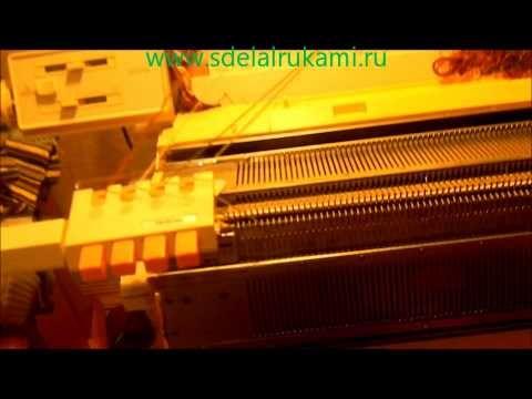 вязание на вязальной машине с помощью многоцветника - YouTube