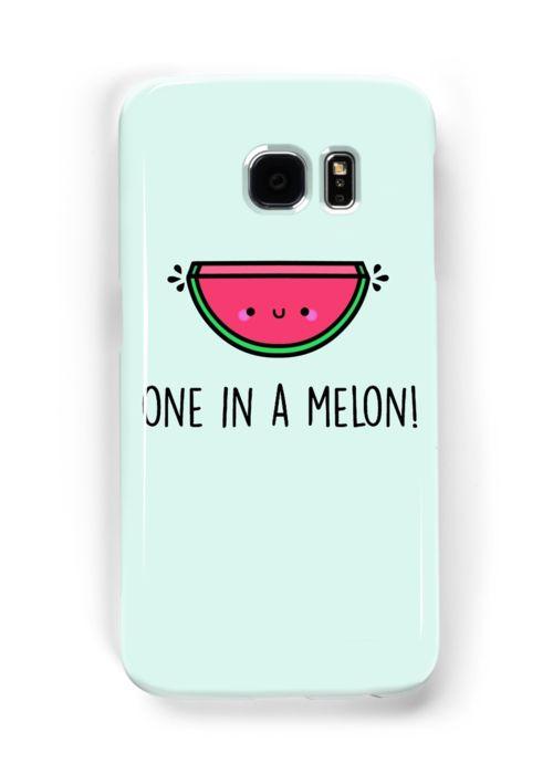 Cute Cell Phone Case, Funny, pun, watermelon pun, watermelon art, one in a melon, one in a million, love pun