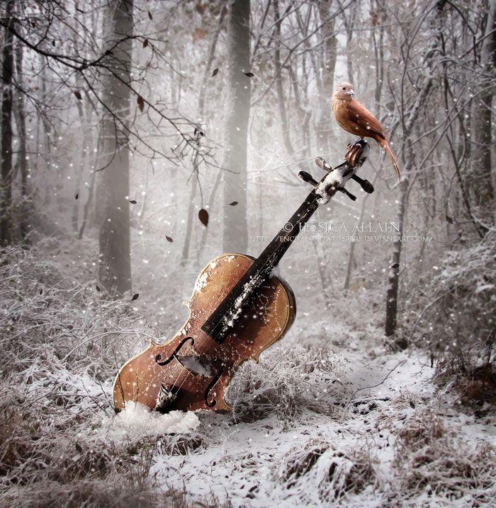 Музыка зимой картинки