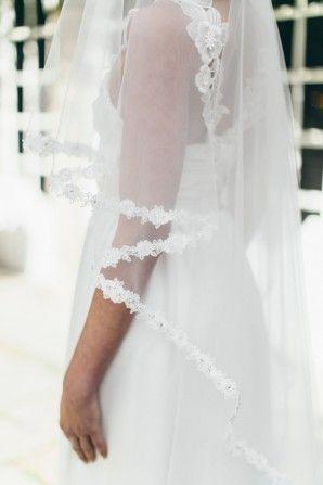 velo da sposa con motivo floreale