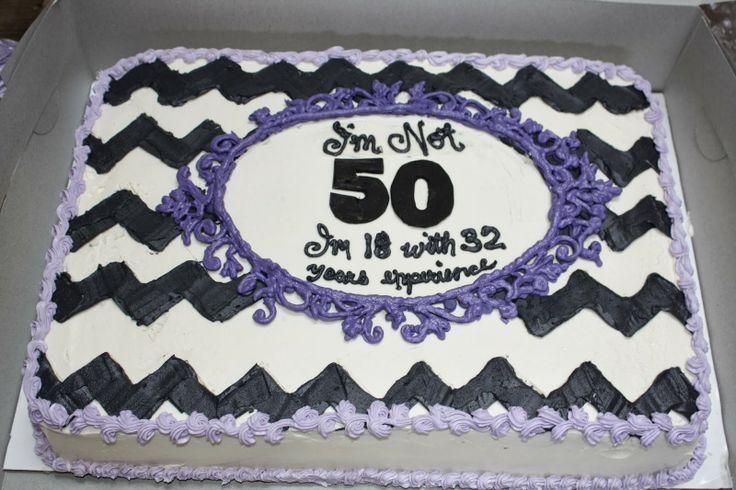 Sugar Valley Cakes Purple And Grey Chevron 50th Birthday