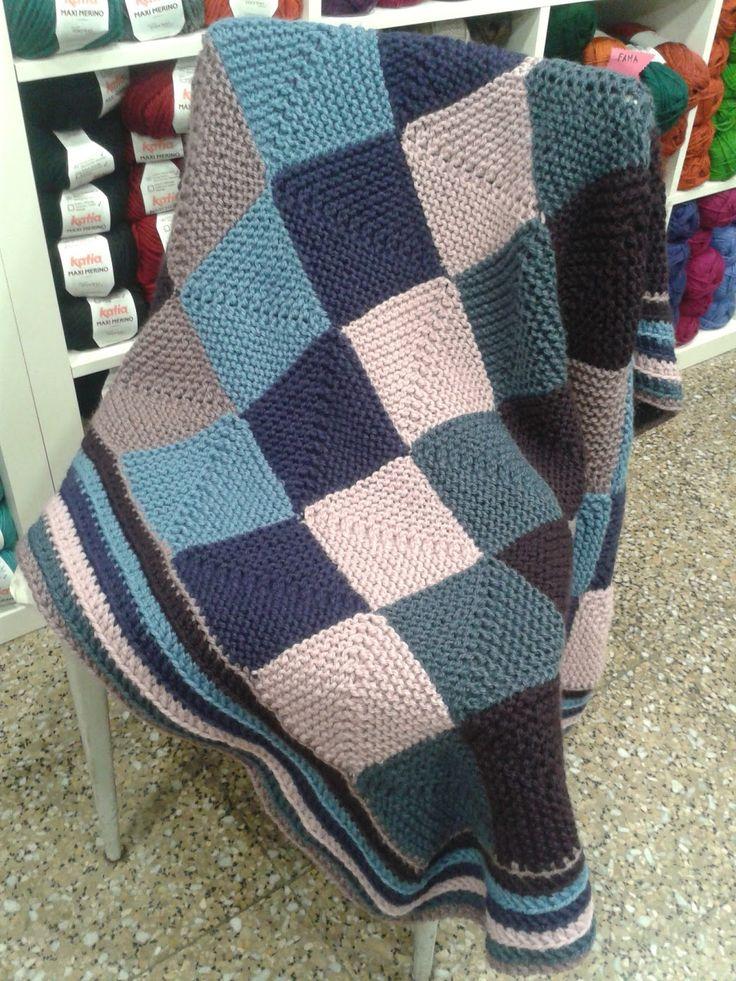 M s de 25 ideas incre bles sobre colchas tejidas a dos - Mantas de punto hechas a mano ...