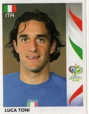 Luca Toni of Italy. 2006 World Cup Finals card.