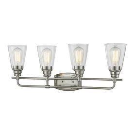 Z-Lite Annora 4-Light 10.75-In Brushed Nickel Cone Vanity Light 428-4V-Bn