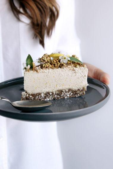 Raw Lemon & Caramel Cheesecake with Buckini Base